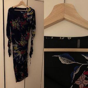 Diane Von Furstenberg Mesh Overlay Dress